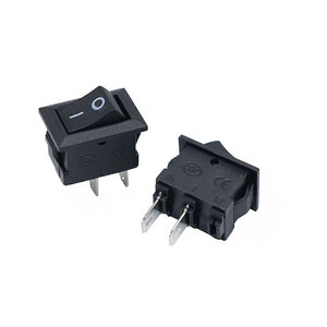 10 Pcs Small Boat Rocker Switch 2pin ON-OFF 3A 250V 6A 125V AC 10*15MM Power Switch I/O SPST Snap Small Rocker Switch