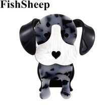 FishSheep Nuovo Cane Bello Spille Per Le Donne Big Cute Dog Forma di Animale Spilla E Spilli Vestiti Accessori Corpetto Spilla Regalo(China)