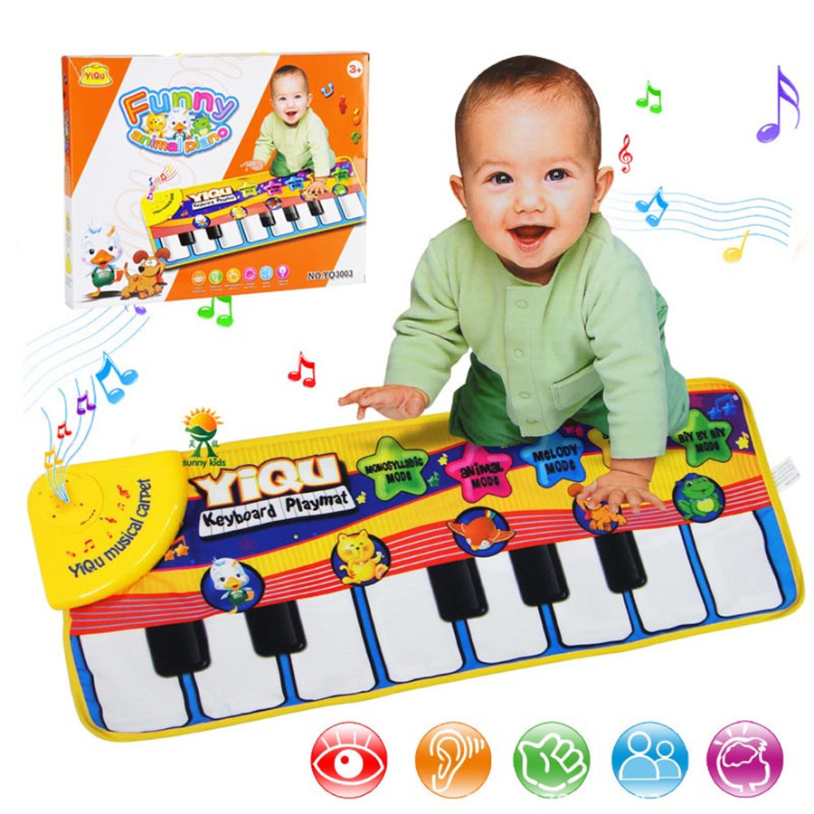 Infant Baby Piano Playing Toy With Funny Music And Animal Sounds Crawling Mat Baby Music Carpet Kids Educational Gift Play Mat