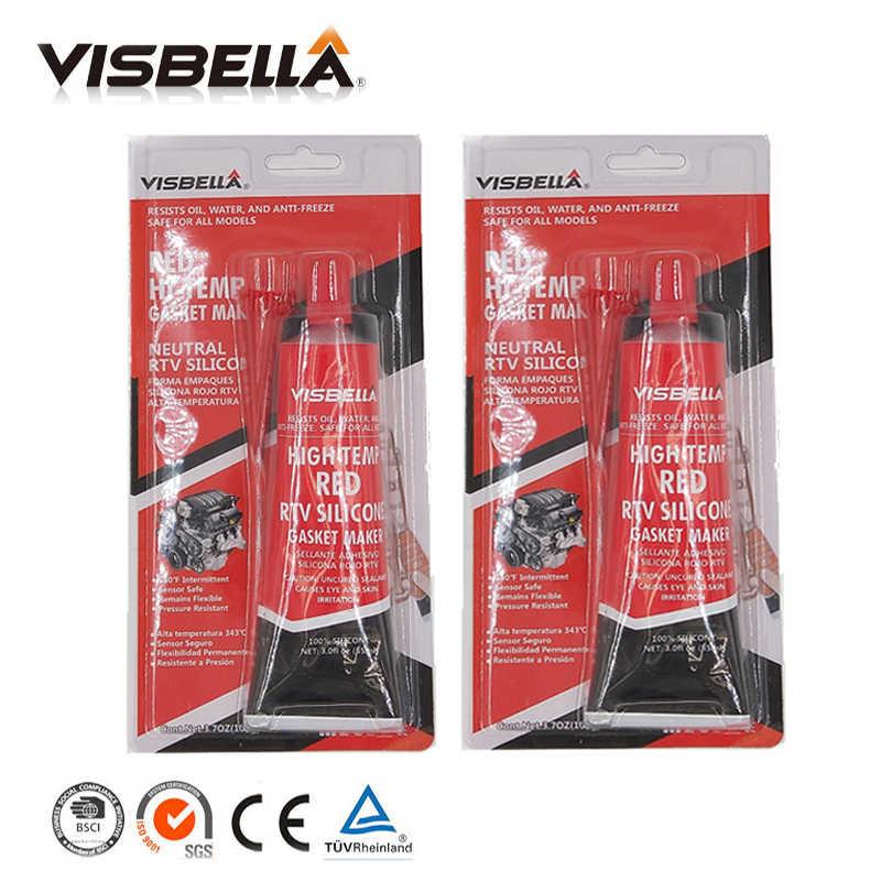 Visbella A Quality Neutral RTV Gasket Maker 85g 2 PC Lot High Temperature  Silicone sealant rubber moistureproof glue