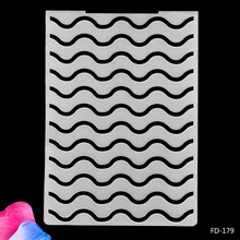 2019 New Arrival Scrapbook Wavy lines DIY Paper Scrapbooking Craft/Card Making Decoration Plastic Embossing Folder