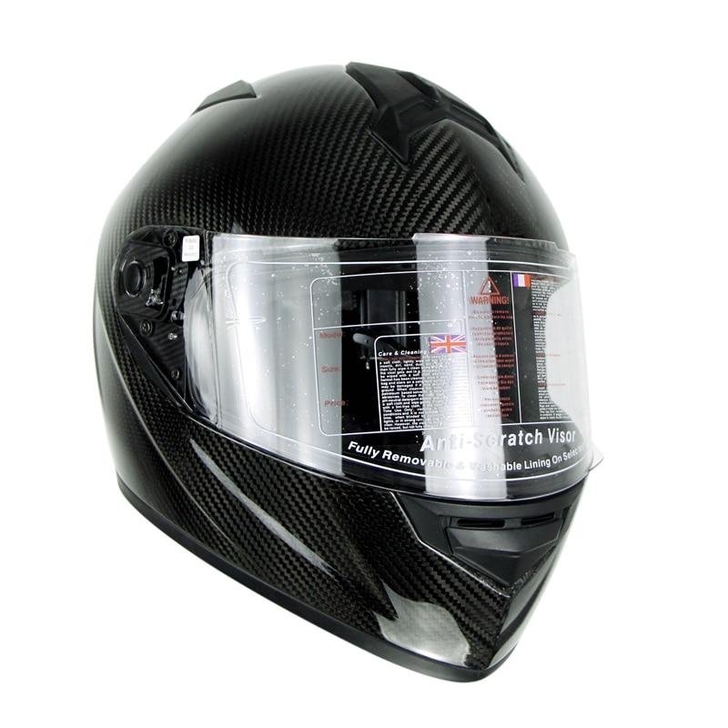3K Carbonfiber Motosiklet Tam Üz Dəbilqəsi Motorbike Steet Racing - Motosiklet aksesuarları və ehtiyat hissələri - Fotoqrafiya 3