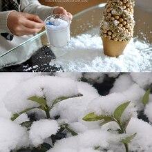 1 мешок белый поддельный Рождественский Снежный порошок 10 г искусственный волшебный мгновенный снег пушистый супер абсорбент Рождество Свадебная вечеринка Декор