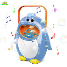 Outdoor Bubble Penguin Portable Music Baby Bath Toy Bubble Maker Swimming Bathtub Soap Machine Toys for Children With Music Wate(China)