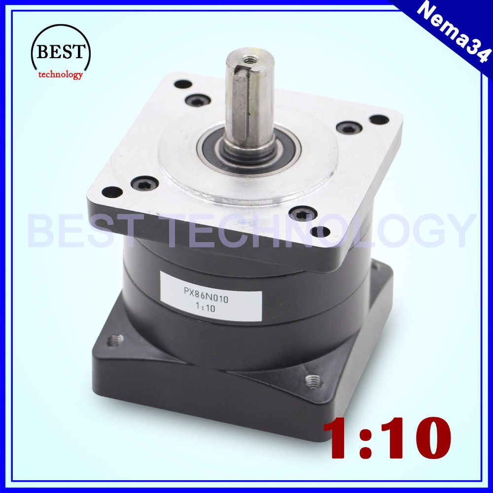 Nema34 Motor Planetary Reduction Ratio 1:10 planet gearbox 86mm motor speed reducer, High Torque high quality !!