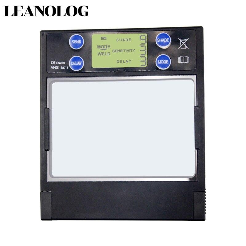 Smart Large Window 4 Arc Sensor DIN5-DIN13 Solar Auto Darkening TIG MIG MMA Welding Filter Helmet Lens