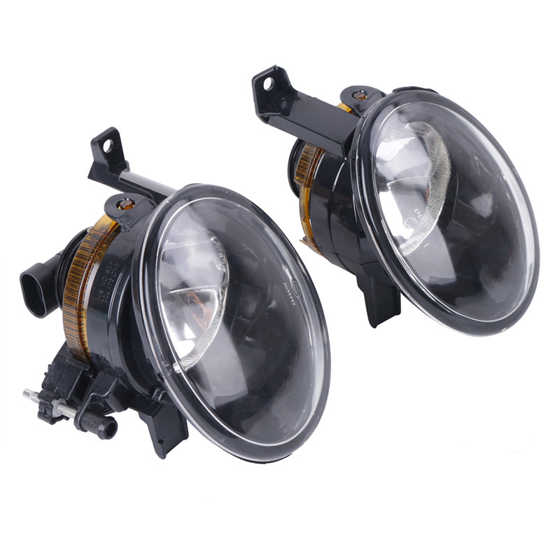 1 Pair Car Accessories 9006 Socket Front Driving Fog Light For VW Jetta Golf Plus MK6 Caddy Eos Touran Tiguan // hot sale abs chromed front behind fog lamp cover 2pcs set car accessories for volkswagen vw tiguan 2010 2011 2012 2013