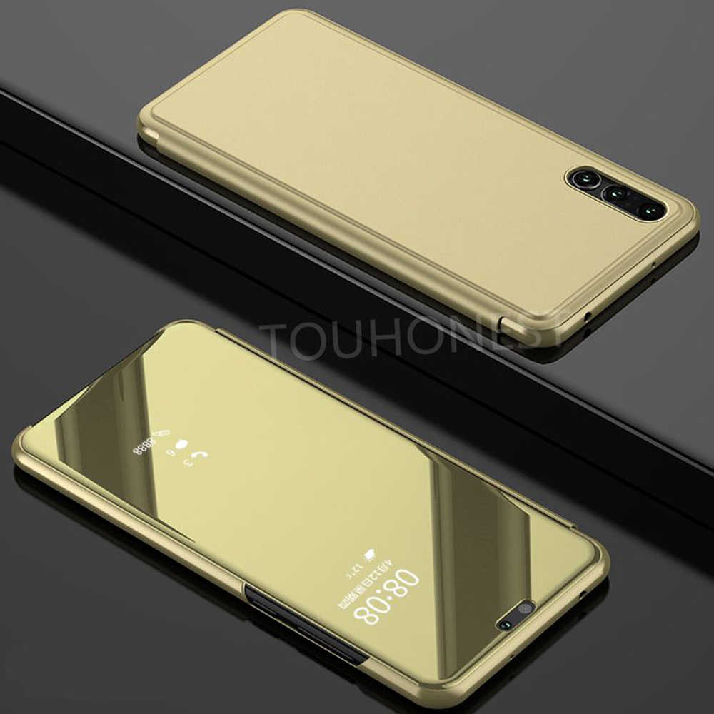 P20 lite Mirror Clear View flip Cover For Huawei P20 Pro