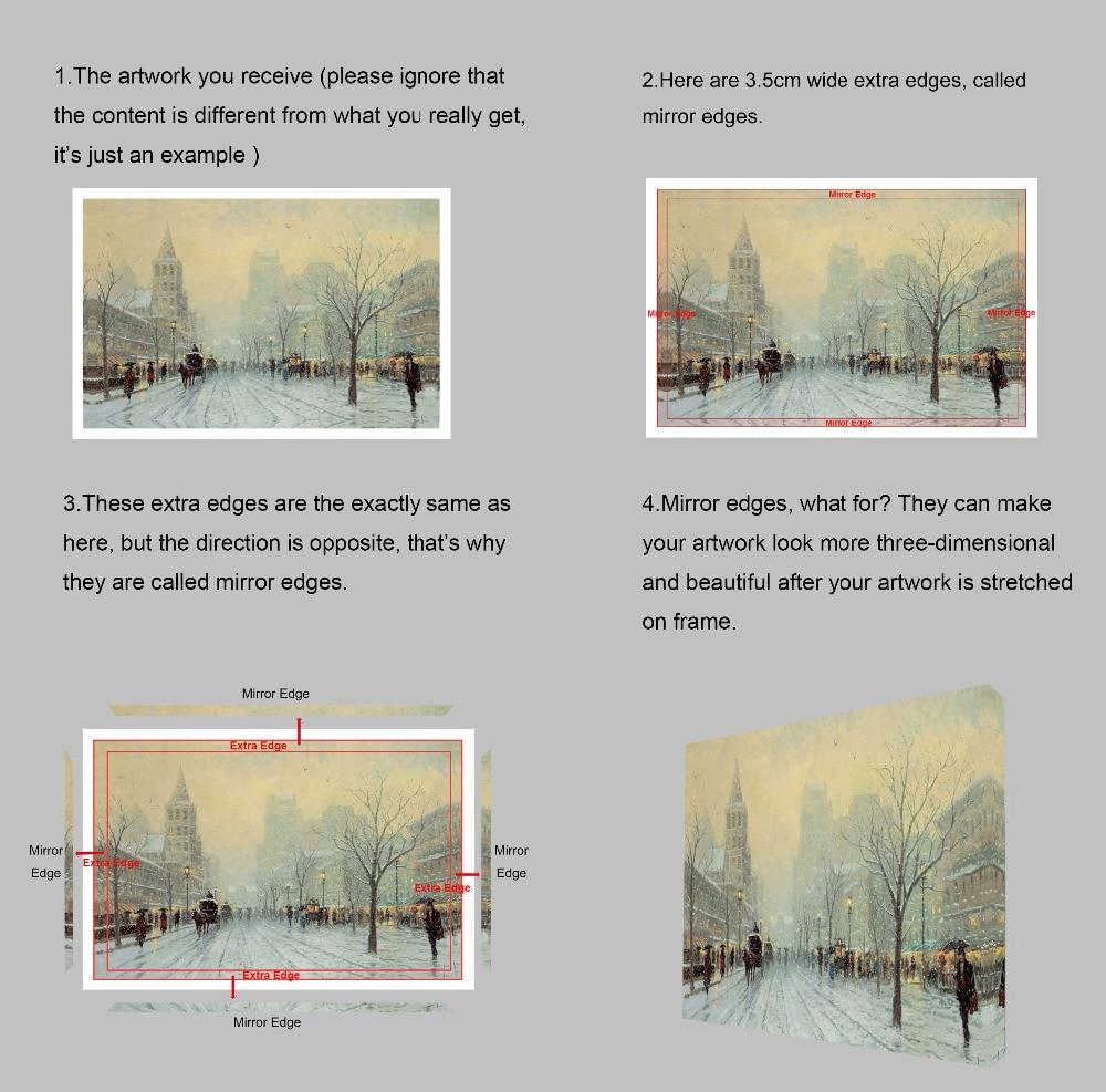 Modern Digital Picture Print on Canvas Animal Deer Custom Wall Frame ...