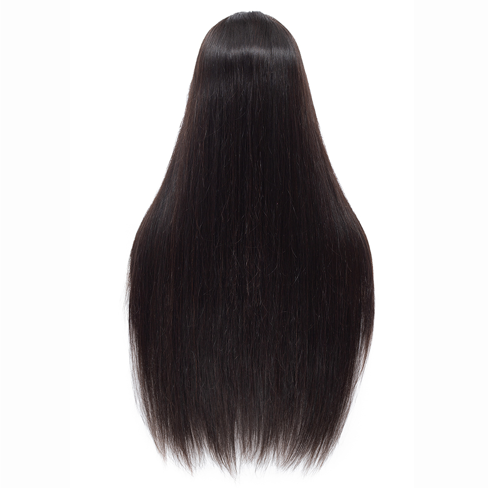 Queenlike 14-26 Long Length T Lace Front Wig With Baby Hair Brazilian Straight Remy Hair Pre Plucked Lace Front Human Hair Wigs ...