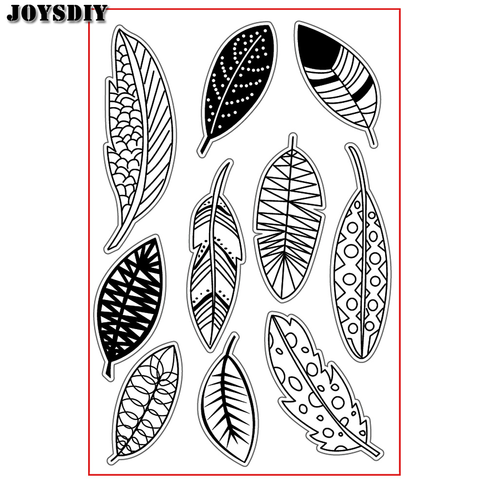 VARIOUS CUTE FEATHERS LEAVES Scrapbook DIY  photo cards account rubber stamp clear stamp transparent stamp Handmade card stamp spider texture background scrapbook diy photo cards account rubber stamp clear stamp transparent stamp handmade card stamp