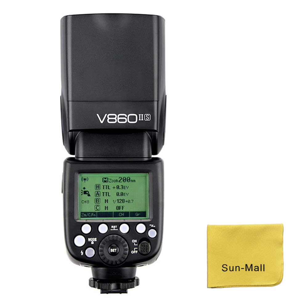 Godox V860II-S Caméra Flash Speedlite pour Sony HVL-F60M, HVL-F43M, HVL-F32M, A7 A7R A7S A7II A7RII A58 A99 A6000 A6300 Caméra
