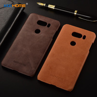 For LG V30 Case KEZiHOME Frosted Genuine Leather Hard Back Cover Capa For LG V30 Phone