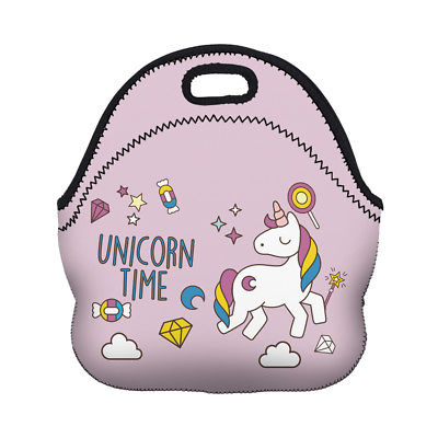Cute Unicorn Lunch Bag 3D Printed Cartoon Unicorn Pattern 2017 New Fashion Picnic Women Lunch Box Girl Food Package