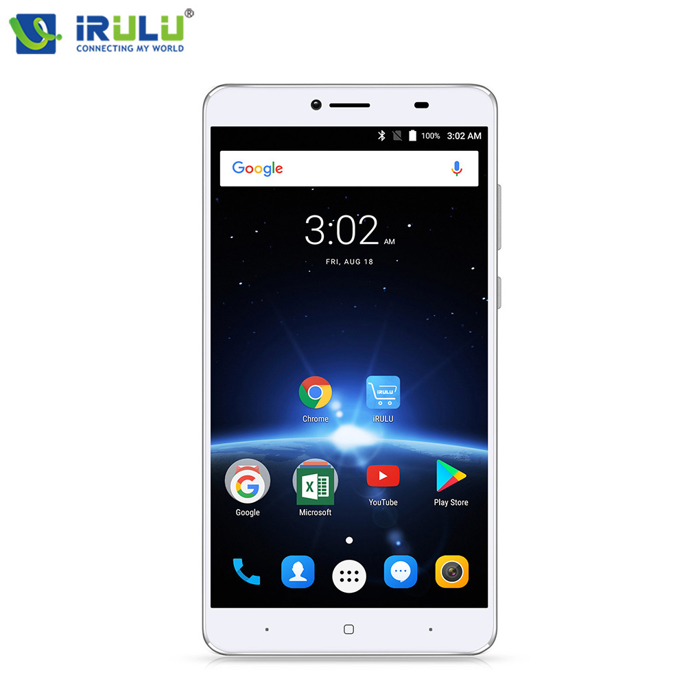"iRULU GeoKing 3 Max 6.5"" Mobile Phone Andriod 7.0 Octa Core 1.5 GHZ 3+32GB Dual Cams 5MP+13MP 1920*1080 Slim 4300mAh Cellphones"
