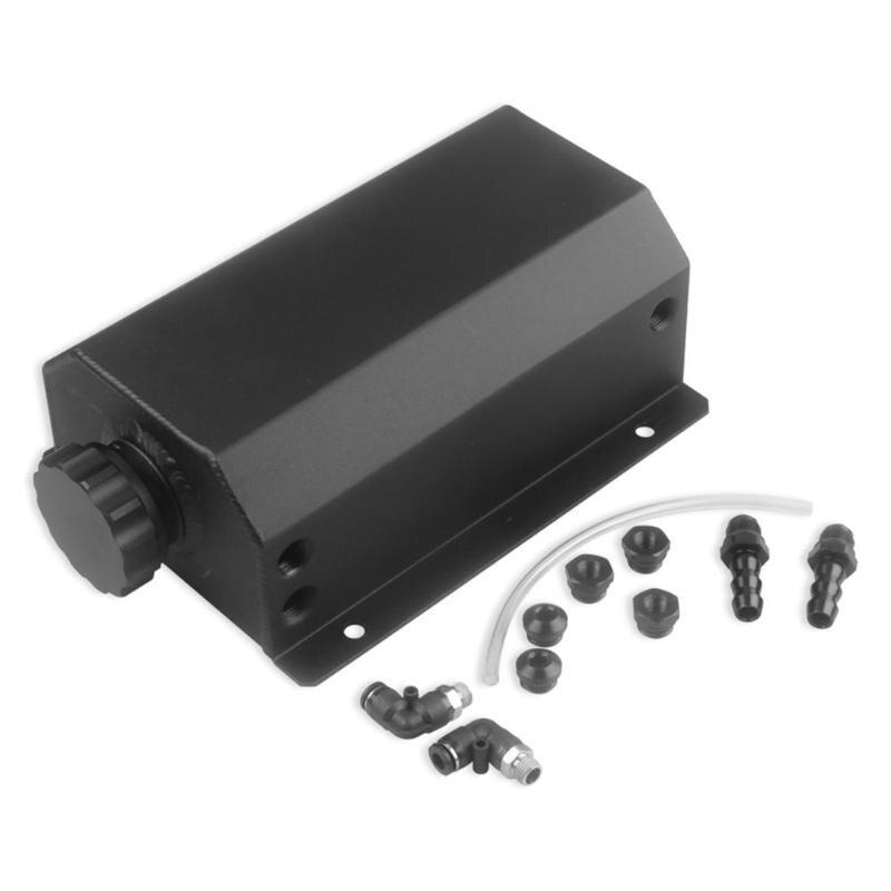 Universel 2L aluminium voiture moteur huile capture peut réservoir 2000ml noir huile réservoir Auto voiture accessoires