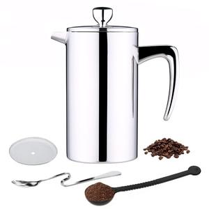 Image 1 - ROKENE In Acciaio Inox Francese Presse Caffè Caffettiere A Filtro macchina per il Caffè A Doppia Parete di Costruzione di Caffè Presse 3 Pezzi Regali
