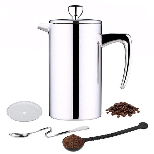 ROKENE In Acciaio Inox Francese Presse Caffè Caffettiere A Filtro macchina per il Caffè A Doppia Parete di Costruzione di Caffè Presse 3 Pezzi Regali
