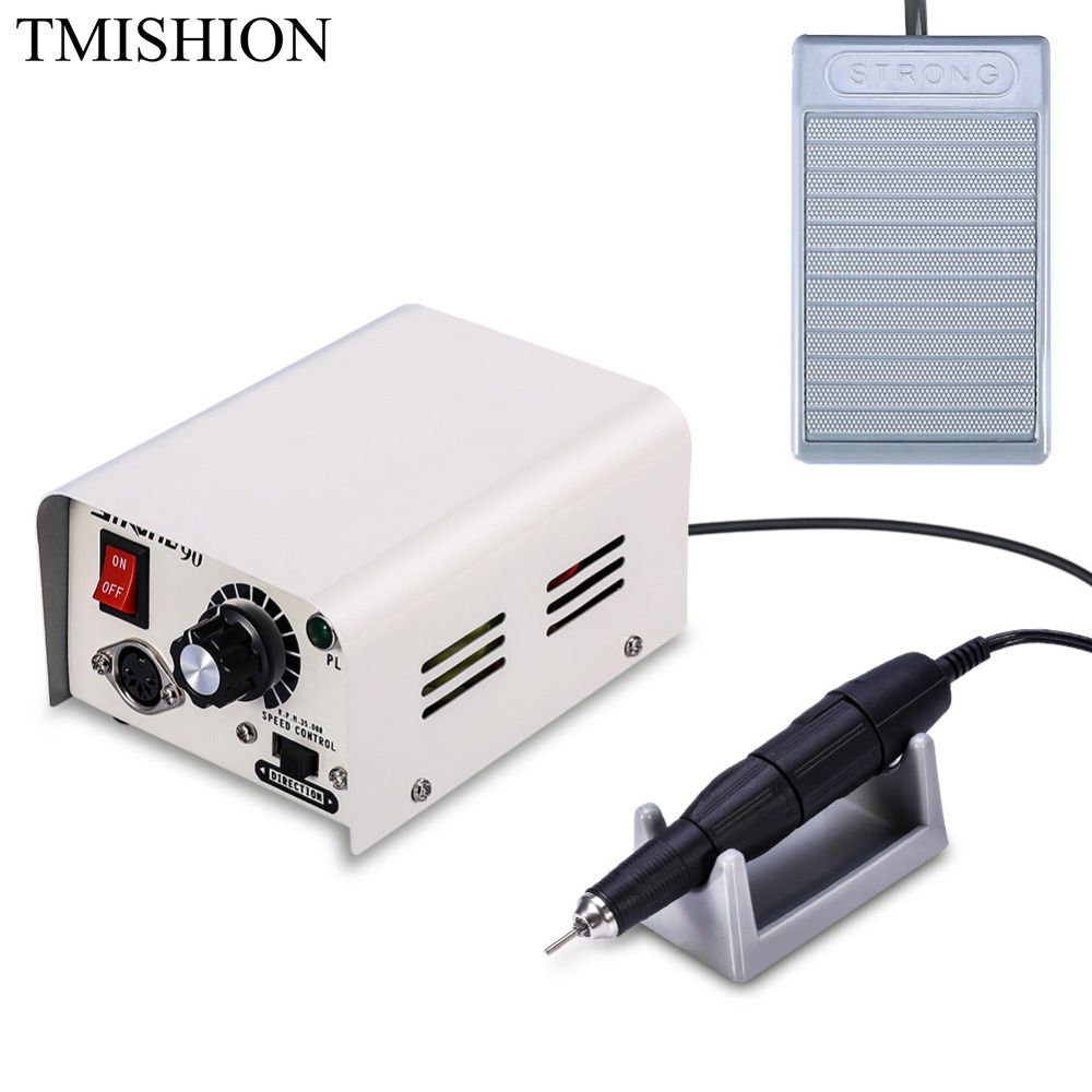 TMISHION 65W Electric Nail Art Drill Pedicure Machine 35000RPM Multifunction Drilling Grinding Pen Nail Carving Polishing Tool