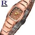 Original de Luxo de tungstênio de aço Relógios Das Mulheres Relógio de Quartzo Diamante Relógio de Ouro Relógio de Pulso Ladies Dress Watch Relogio feminino