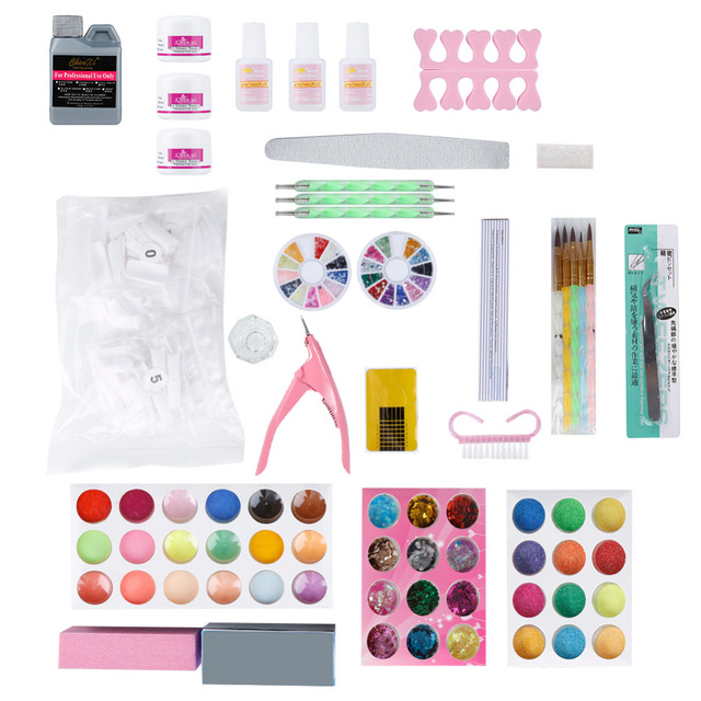 Elecool 1 Set High Quality Nail Art Tips Manicure Sets For Women And
