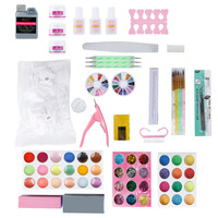 ELECOOL 1 Set High Quality Nail Art Tips Manicure Sets for Women and Girls DIY Colorful Nail Decoration Kits