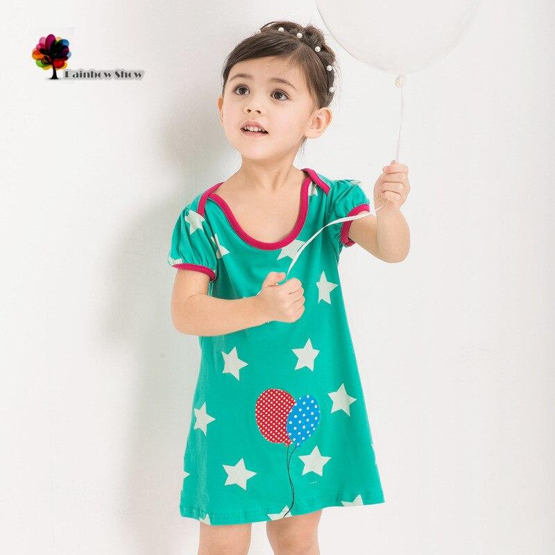 Vickypiggy Zcela nové děti Oblečení Dívky Léto Chladné Pěticípé Hvězdy Kraťasy BavlnaKvalitní Šaty