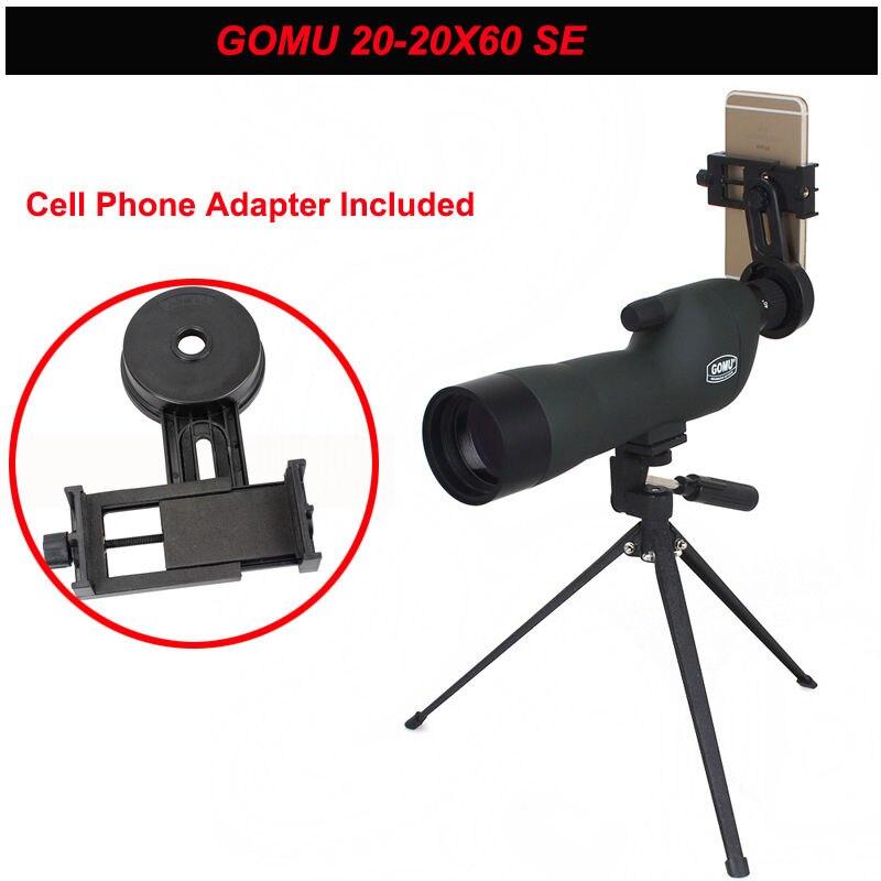 GOMU 20-60X60 Zoom Focus Monocular Telescope Spotting Scope with Tripod&Cellphone Adapter цена