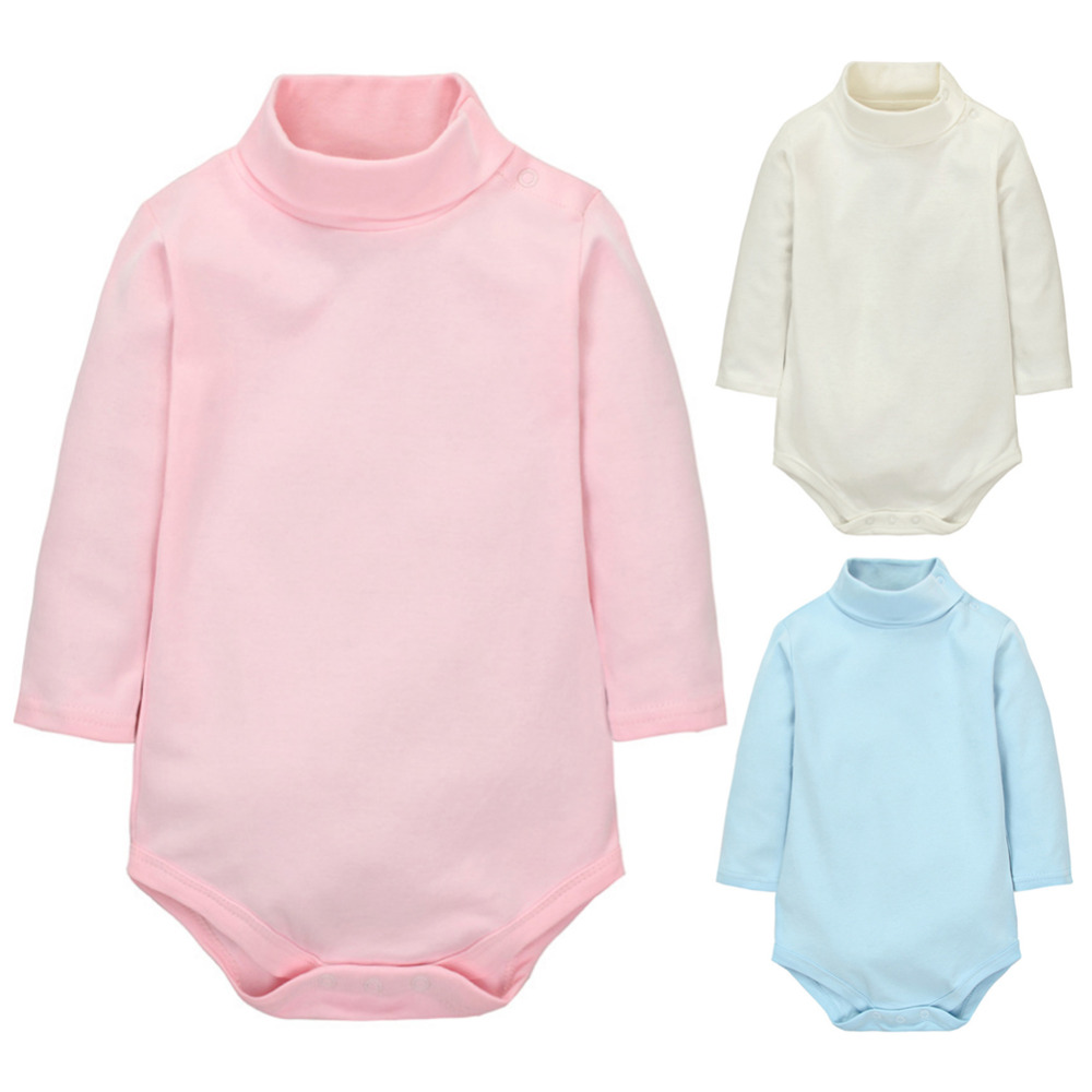 Hot 2017 Autumn Newborn Baby Rompers Long Sleeve Infant Jumpsuit Paramas High Neck Cotton Kids Clothes Costume 6 Color ...