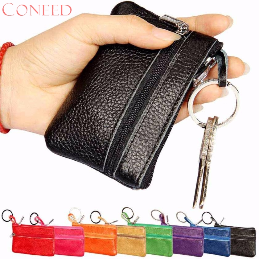 CONEED Drop Ship 2017 Hot Sale Women Leather Key Case Wallet Coin Purse Clutch Wallet Card Holder Juy25