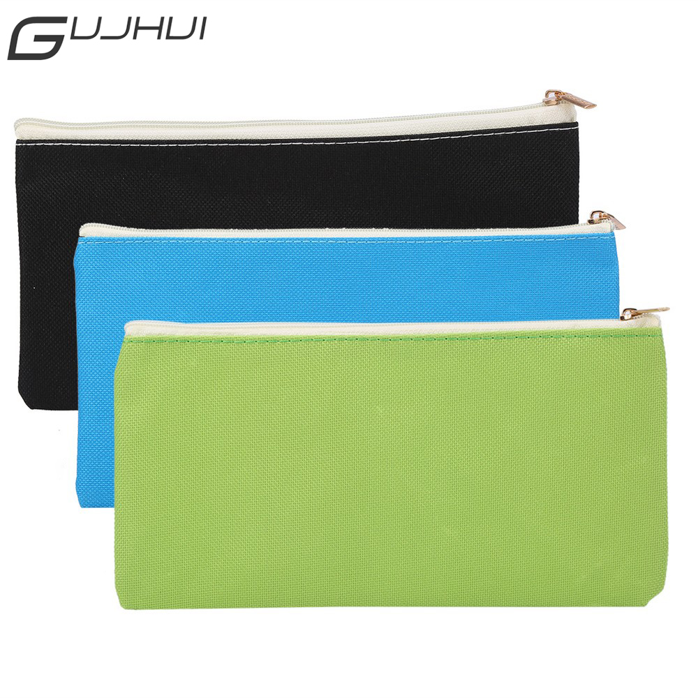 GUJHUI Portable Travel Makeup Brushes Bag Pencil Case Pouch Holder Canvas Stationery Make Up Brush Cosmetics Organizer Container student pencil pen cosmetic makeup brushes case makeup tool holder bag storage pouch makeup organizer canvas high quality