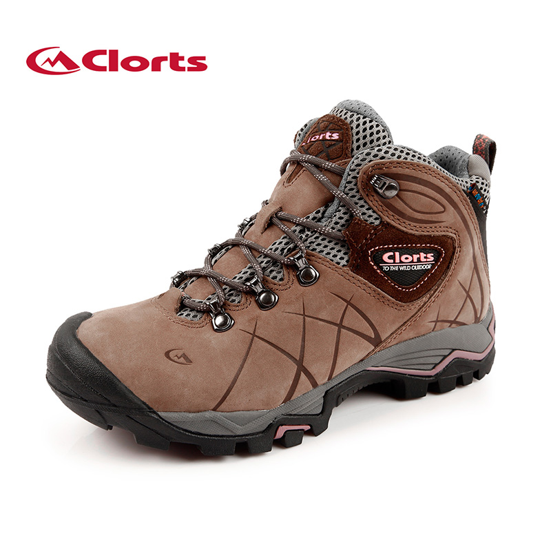 Latest Clorts Waterproof Climbing Boots Woman Hiking Shoes Suede Leather Outdoor Boots for Mountain HKM-802B