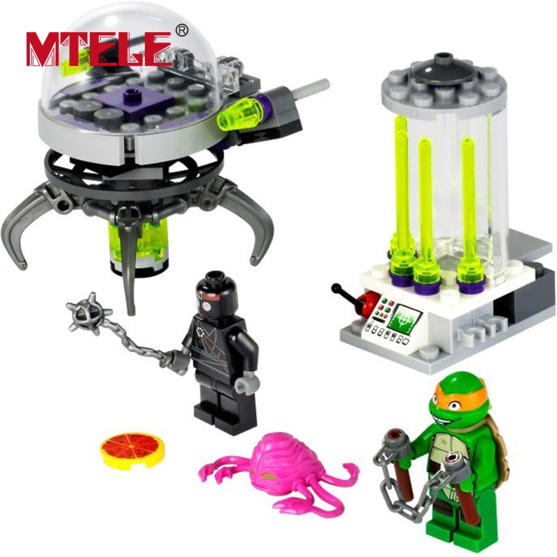 MTELE Ninja Action Figure Movie Lab Escape Building Blocks Set Figures Kids Toy 10206 Compatible With Lego And Lepin mtele 6729 toy building blocks minifigures gift for kids policeman swat and helicopter building bricks kit assemble set