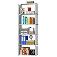 Книжная полка в сборе «сделай сам», модный современный увеличенный книжный шкаф, простая многофункциональная полка для хранения растений, книг, всякой всячины