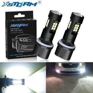 2 шт. H27 светодиодные лампы 880 881 P13W Led PSX26W 1200LM 6000K 12V 24V белый автомобиль противотуманных фар вождения DRL дневные ходовые огни авто