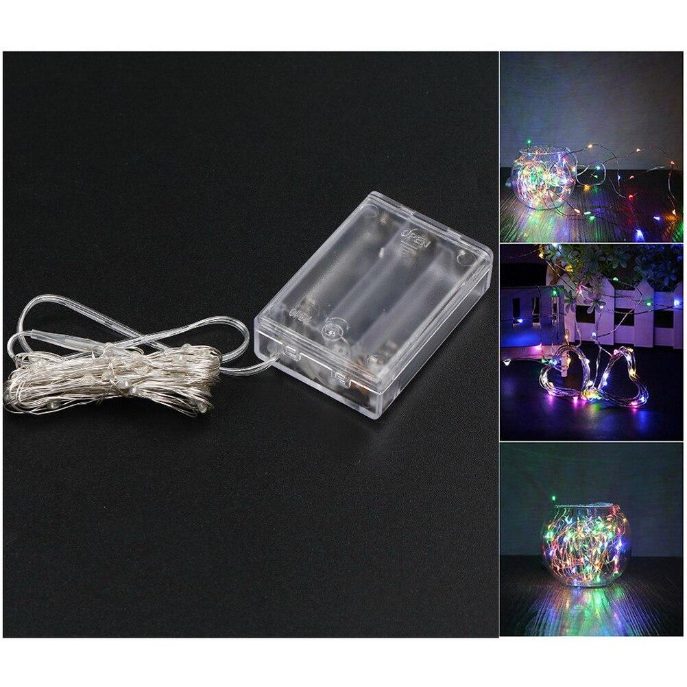 Симпатичные 5 м 50 LED 3xAA Батарея работает Гирлянды светодиодные огни на Рождество гирлянда партия Свадебные украшения Рождество мигалкой Фея…