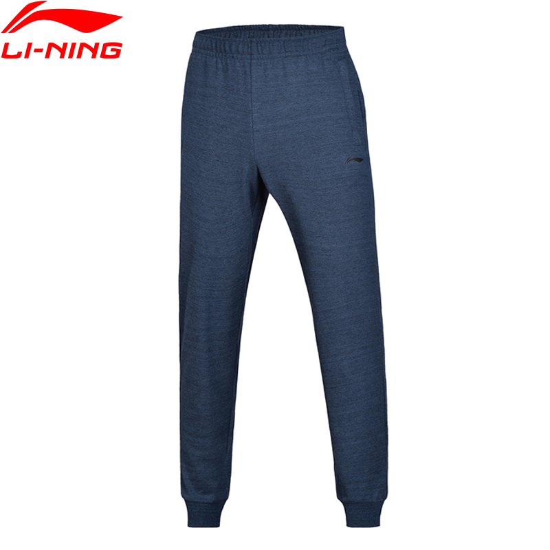 Li-Ning 2018 Men The Trend Sweat Pants Fitness Regular Fit Li Ning Comfort Knit Sport Pants Trousers AKLN181