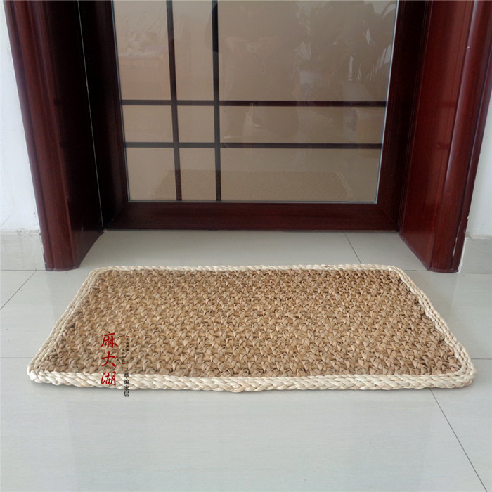 Braided Rug For Living Room: Handmade Stitch Straw Floor Mat Carpet Braided Area Rug