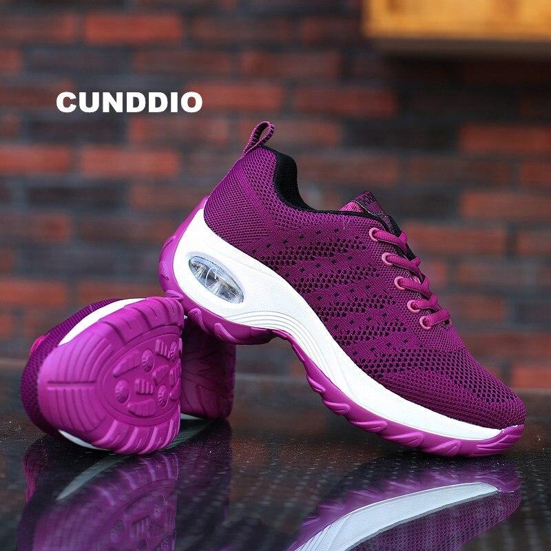 Новый Для женщин кроссовки модная женская повседневная обувь туфли на плоской подошве дышащая сетка наружного воздуха демпфирования для о... ...