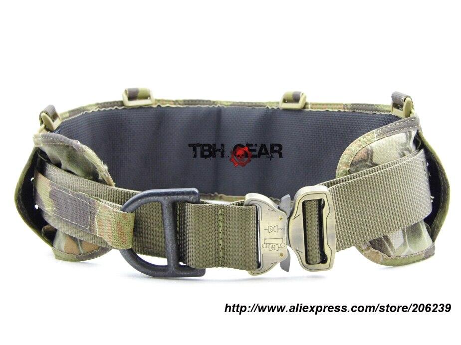 ФОТО TMC Laser-Cut PALS Padded Belt Rigger Belt Tactical Belt MOLLE Belt In Kryptek Mandrake+Free shipping(SKU12050419)