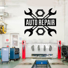 Car Auto Repair Logo Auto Service Vinyl Sticker roll , Tires, Repair,car Studio Shop Window Sticker waterproof  CS19 цена