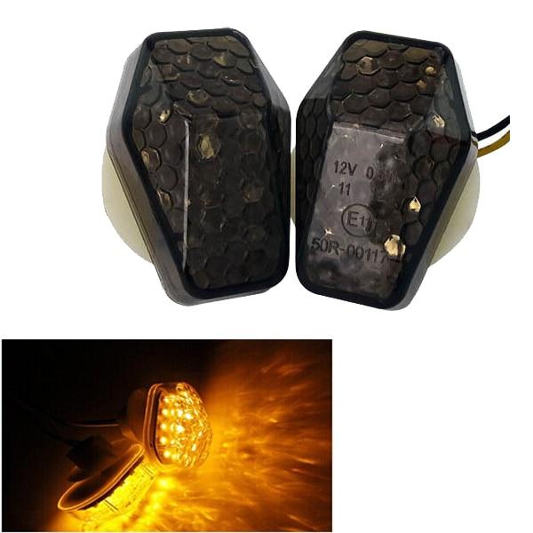 Motorcycle Motorbike LED Mount Flush Blinker Turn Indicator Signals Light for Suzuki GSX-R 600/750 00-05 GSX-R SV650