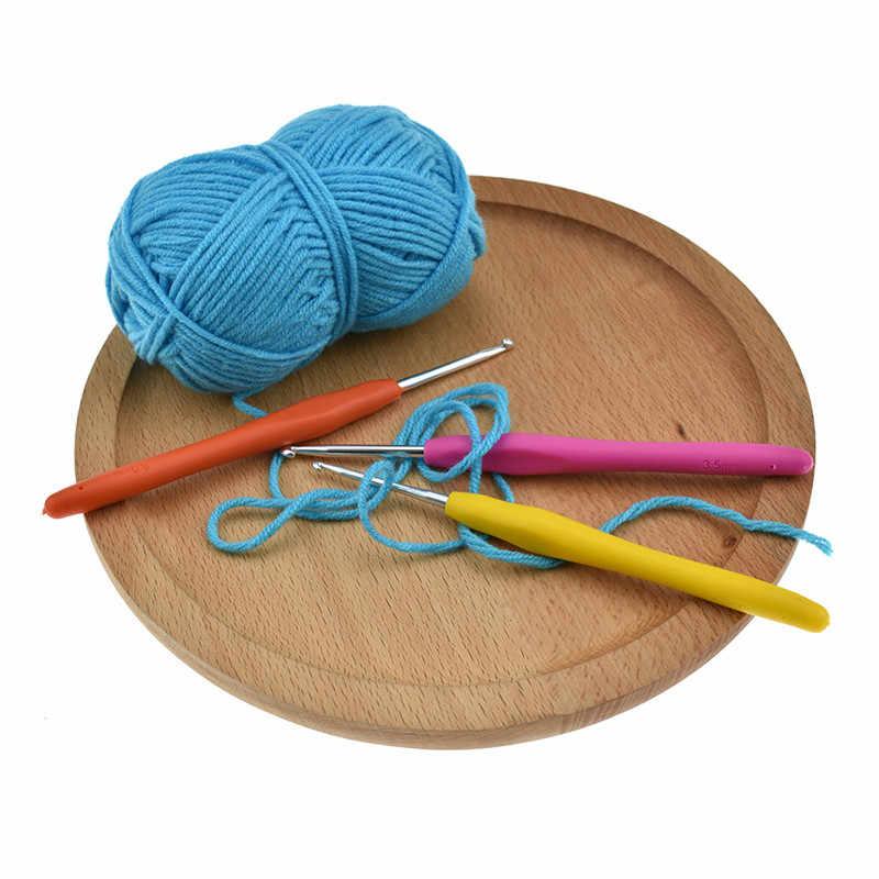 KOKNIT 10 шт., разноцветные Алюминиевые крючки для вязания крючком с пластиковой ручкой, спицы для вязания, инструменты для рукоделия