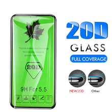25 PCS 20D Tempered Glass Full Glue Coverage Screen Protective Protector Film for iPhone 11 Pro XS XR XS max