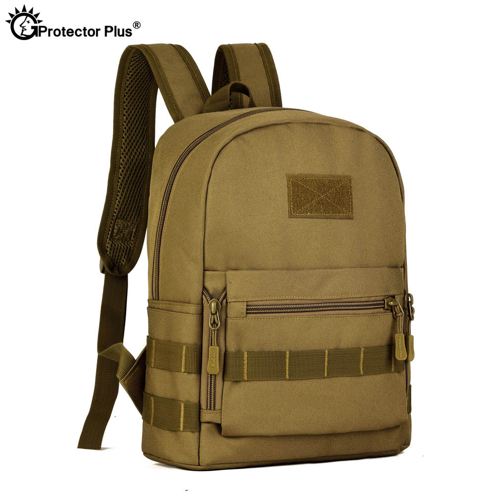 PROTECTOR PLUS Tactical War Game Backpack Military Style Climbing Bag Camo Hiking 10L Jungle Bag Small Rucksack Durable 5 Colors