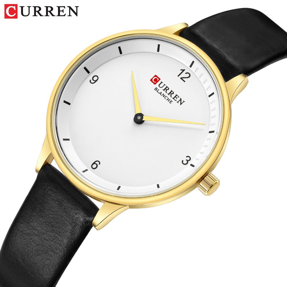 Simple Fashion CURREN 2019 New Ladies Casual Leather Watch Daily Dress Best Gift For Women Relogio Feminino Dropshipping 9039