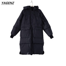 Women Basic Coats 2017 Winter Thick Cotton-padded Clothes Female Outerwear Loose Large Size Women Jacket Casual Tops YAGENZ A10
