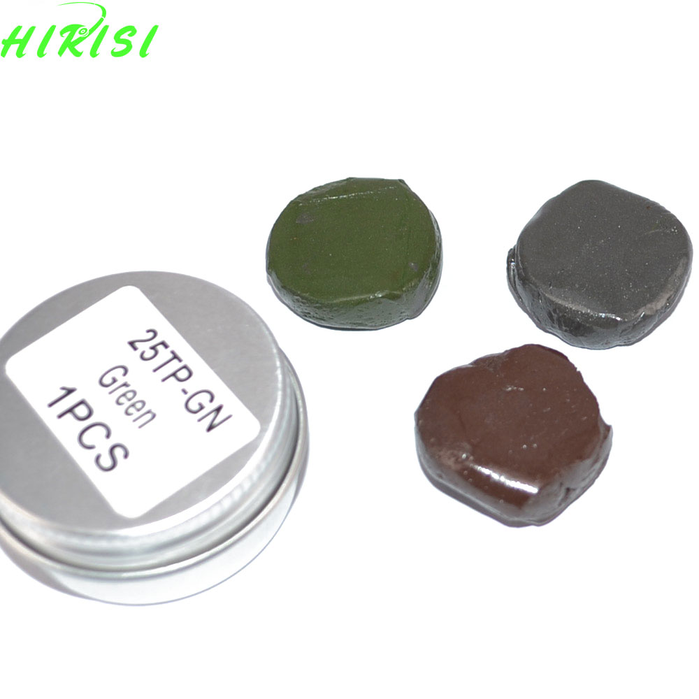 Tungsten Rig Putty 15g 25g Brown Black Green Carp Fishing Weights Terminal Tackle wifreo 30pcs bag soft fake floating tiger nut bait pop ups scorpion carp rig pop up rig big carp fishing tackle s m