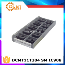 Free Shipping external turning tools 10pcs/lots DCMT11T304 SM IC908 / carbide turning inserts cutte