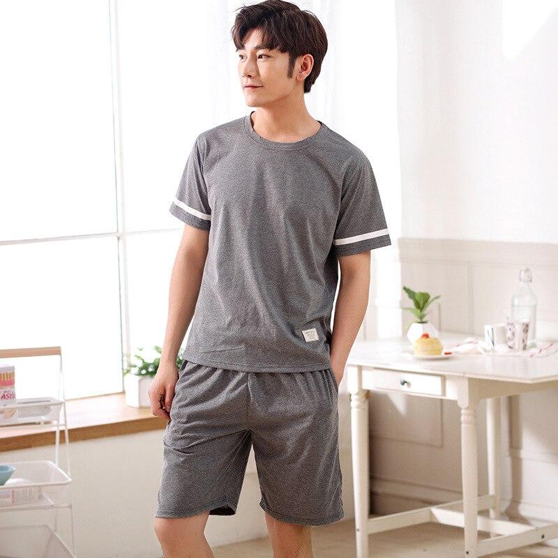2018  Mens  Cotton Pajamas Pants Men  Pajamas Sets Men for summer 8723
